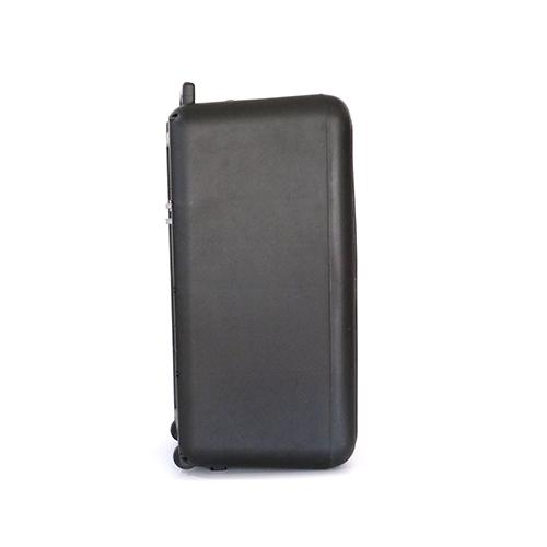 Black portable plastic speaker box