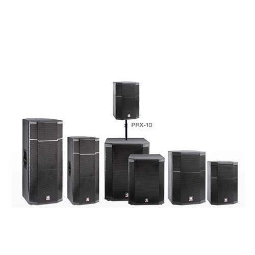 Double 15 inch black woofer wooden speaker box