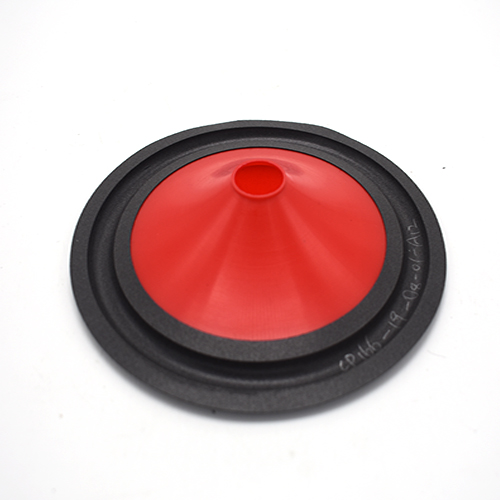 6.5 inch red injection cone with foam edge factory in China