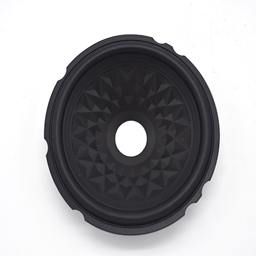 Manufacturer 6.25 inch black PP cone with rubber edge wholesale in China