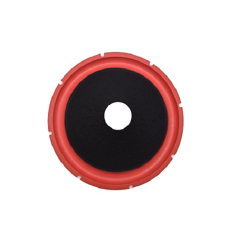 Industrial supply 12 inch black non-press paper cone with red color foam edge factory in China