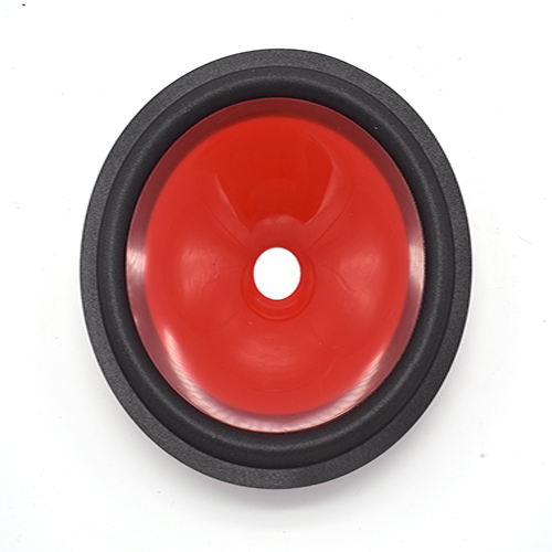 6.5 inch red injection cone with foam edge made factory