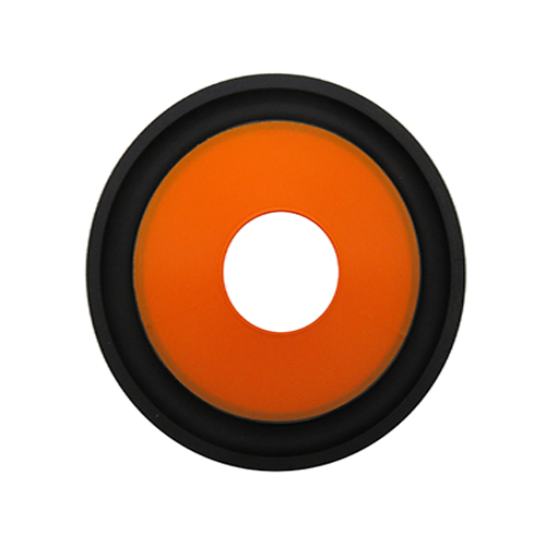 Market price 4 inch orange PP cone with rubber edge supplier