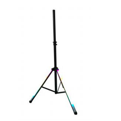 Manufacturer 1.8m speaker stand with rainbow color light factory in China