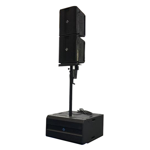 Manufacturer 2x10 inch active wooden small line array with DSP function